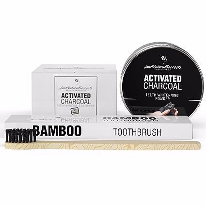 Carbón activado por sólo Natural secretos - profesional de polvo de dientes blanqueamiento dental care &