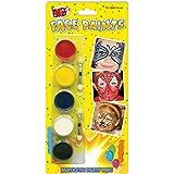 Face Paints - 5 Colours & 2 Applicators (maquillaje/ pintura de cara)