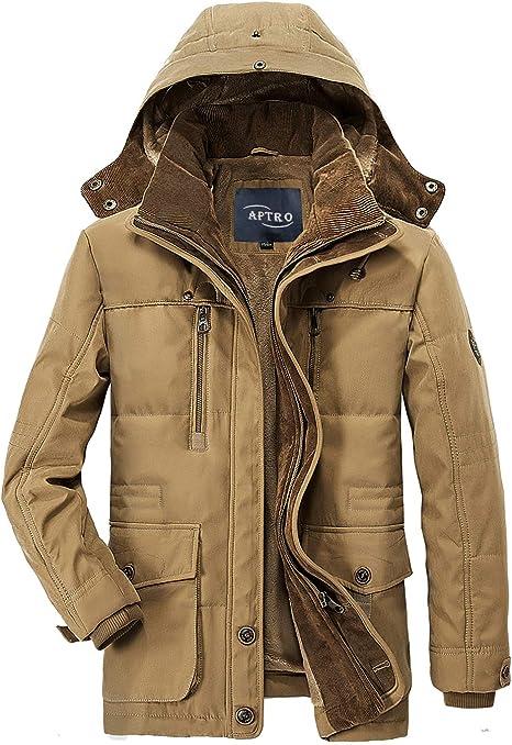APTRO Herren Jacke Winter Mantel Fleece warme Winterjacke