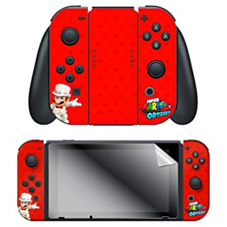 "Controller Gear Nintendo Switch Skin & Screen Protector Set, Officially Licensed By Nintendo - Super Mario Odyssey ""Wedding"" - Joy-Con Only - Nintendo Switch"