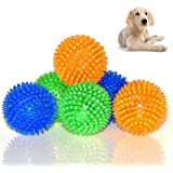 Mrli Pet Squeaky Balls for Dogs Small, Fetch Balls for Dogs Rubber 6 Pack Bright Colors TPR Dog Toy Balls Dog Squeaky…