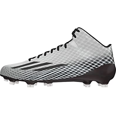 9b7774d603e adidas Adizero 5 Star 3.0 Mid Mens Football Cleats 9.5 White-Black-Platinum