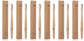 Cepillo de dientes de madera de bambú de lay.dana, libre de plástico y