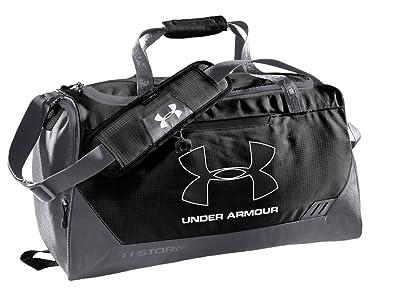 Under Armour UA Hustle Storm Duffel Bag Small black grey Size 50.4 x 27.72 d8037a58532be