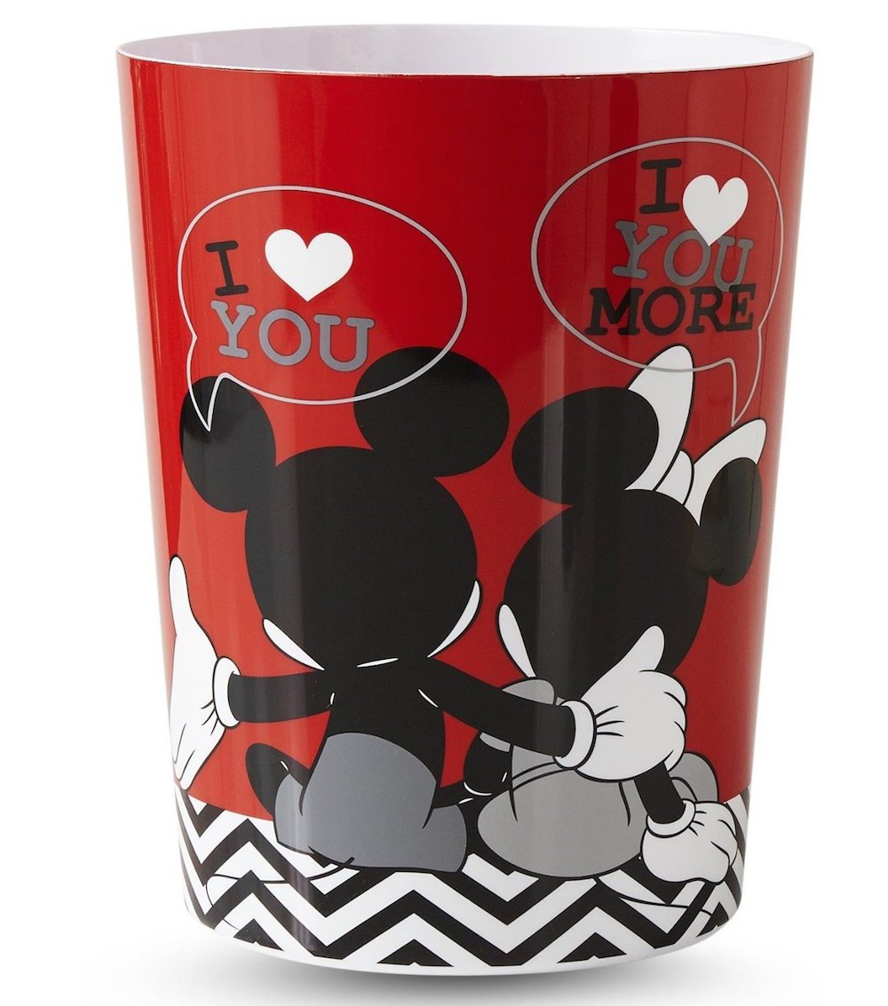 Disney Mickey & Minnie Mouse Wastebasket