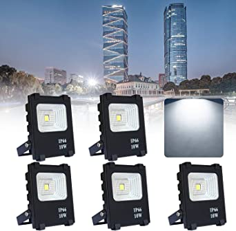 5*10W Proyector LED Blanco frío - Reflector LED Aluminium IP65 ...