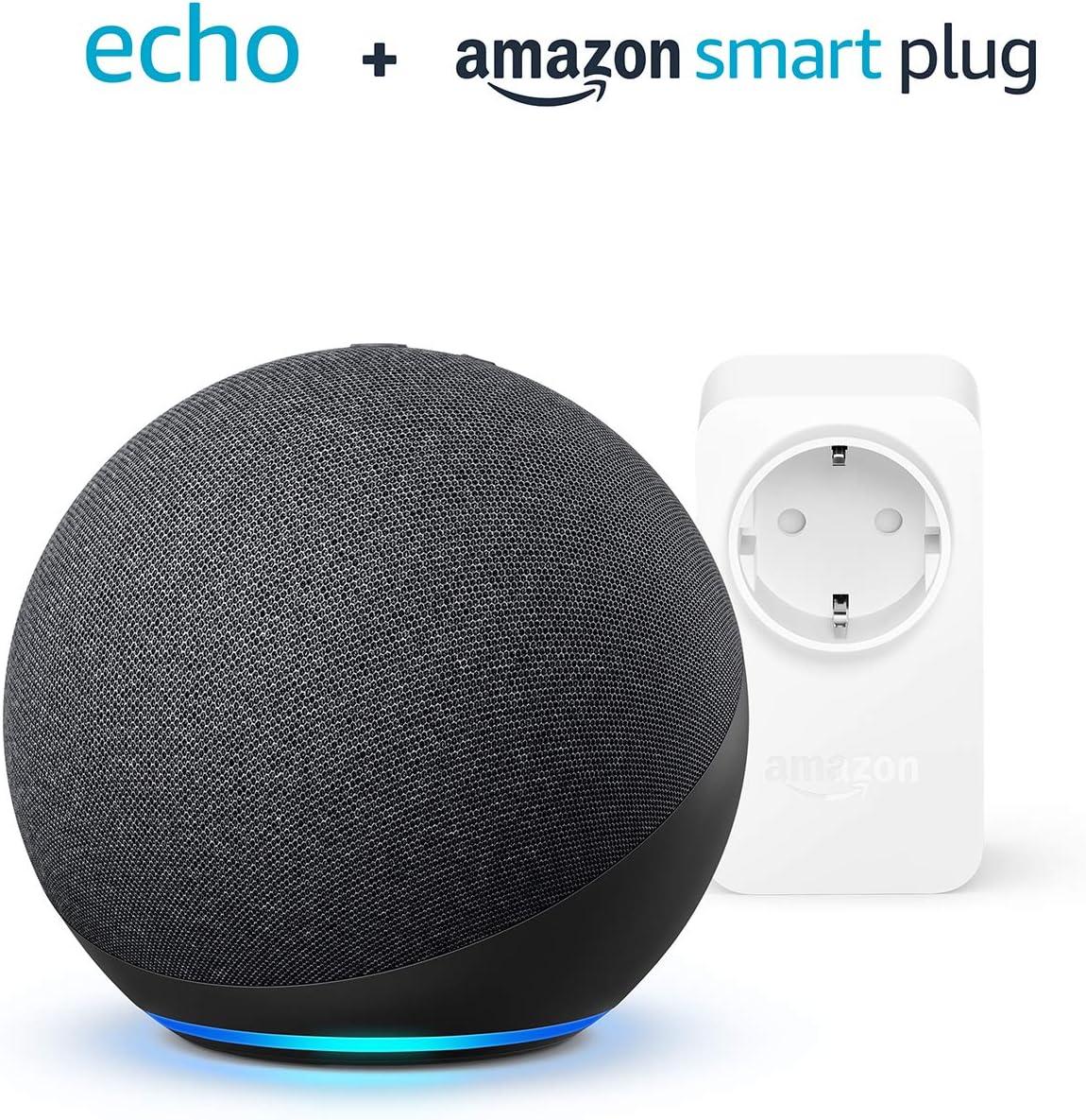 Nuevo Echo (4.ª generación)   Antracita  + Amazon Smart Plug (enchufe inteligente WiFi), compatible con Alexa