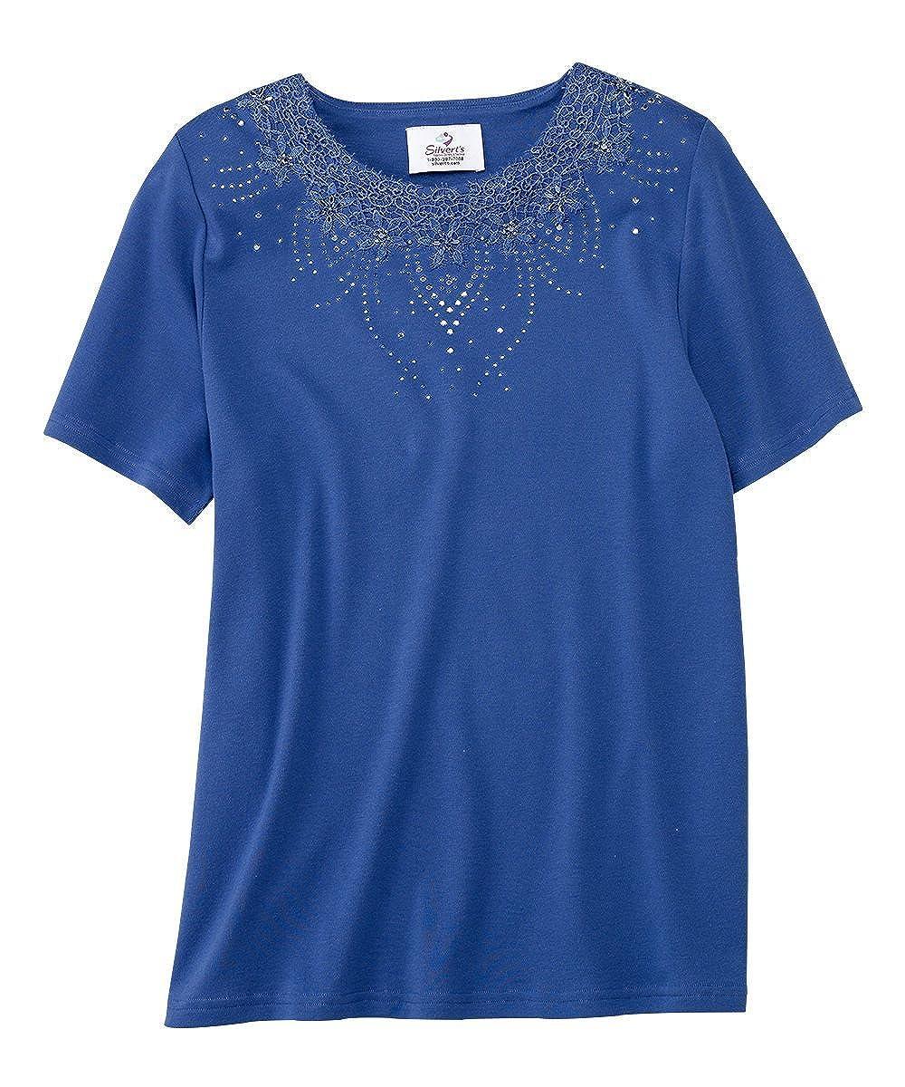 Womens Fashion Adaptive Blouse - Silverts Adaptive Apparel Silvert's 23060
