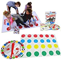 Pinnappo 2 in 1 Classic Floor Game with 2 More Moves and Finger Twister Toys for Kids (Multicolour)