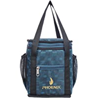 Phoenix Waterproof Polyester Lunch Tiffin Bag for School Office Picnic (Peacock Blue)