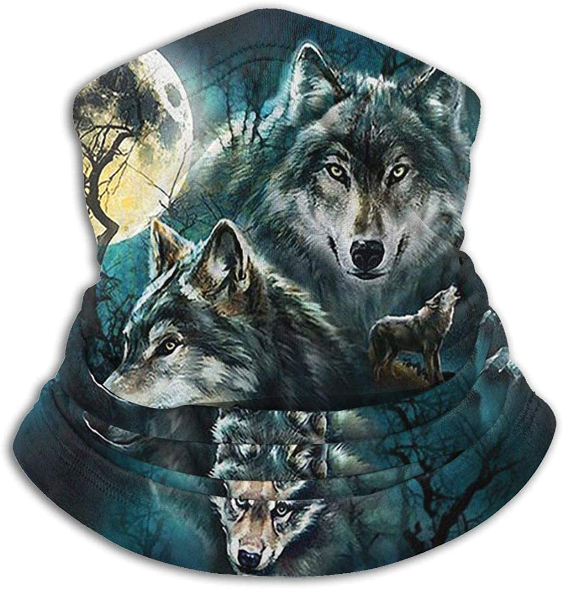 Xarchy Calentador de Cuello de Tres Lobos: Tubo de Cuello de ...