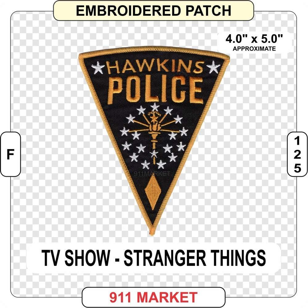 Parche bordado de la policía de Hawkins Stranger Things para TV – F 125: Amazon.es: Juguetes y juegos