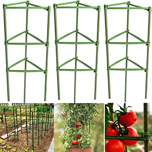 N / A Tomato Cages Deformable Plant Supports, 3Pack Plant Cages Tomato Stakes Garden Cages, Multi-Functional Tomato Trellis for Climbing Vegetables Gardens Flower Beds Fruits Vine