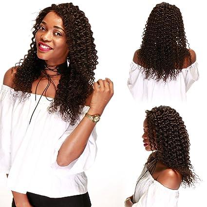 Completo encaje peluca Pelucas De Cabello Humano Para negro las mujeres de profundidad Wave con bebé