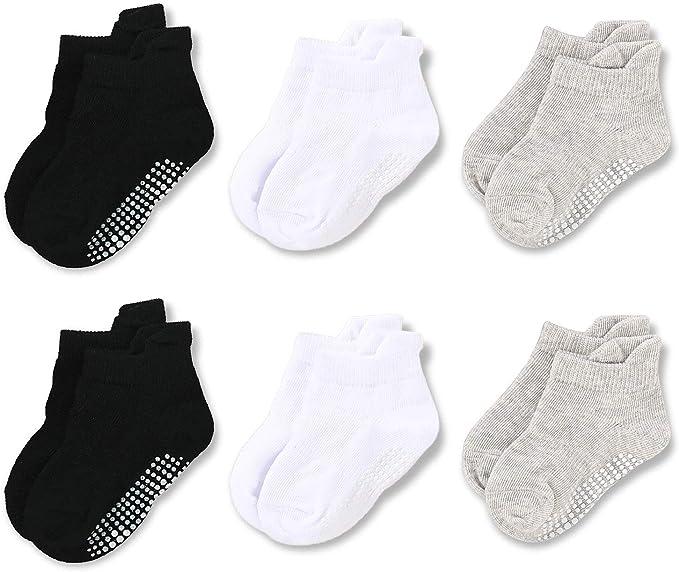 Opawo calcetines de algodón para bebé con agarre al tobillo ...