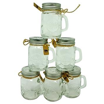 Smith\'s Mason Jars Liqueur Glasses Conjunto de 6 piezas de 120 ml ...