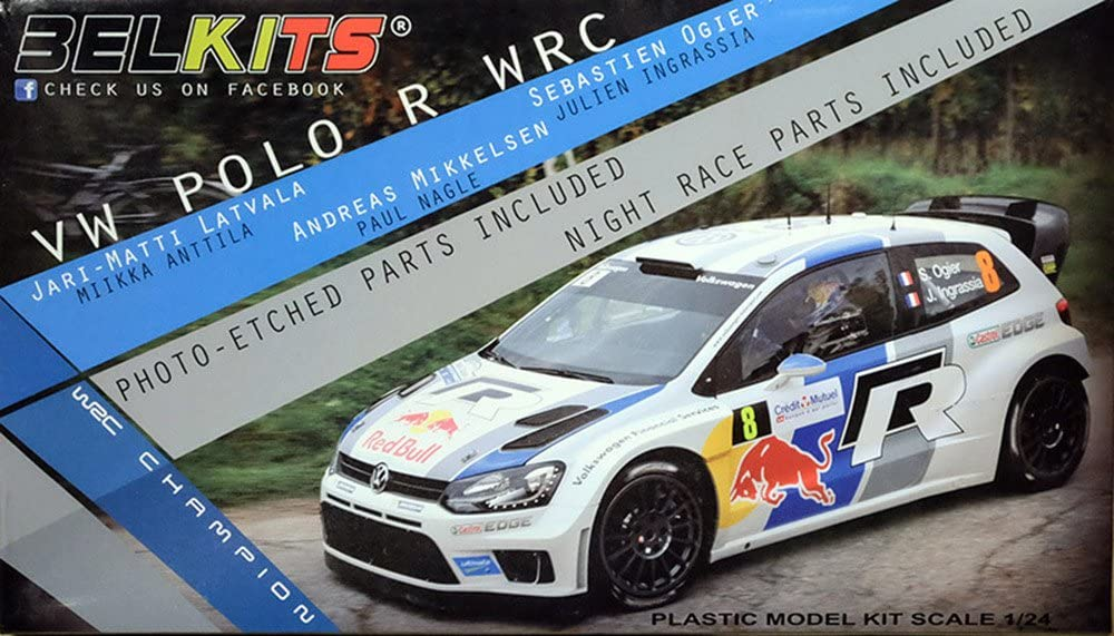 TAMIYA Belkits BEL005 VW Polo R WRC Red Bull 1:24 Car Model Kit ...