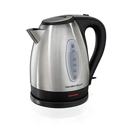 Hamilton Beach Electric Kettle, Tea and Hot Water Heater, Stainless Steel, Cordless Serving (40880), 1.7 Liter,