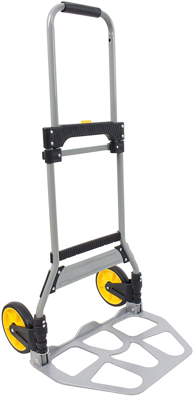 120kg Aluminium Lightweight Folding Sack Truck Hand Trolley Dolly Barrow Platform with Solid Wheels SafetyLiftinGear
