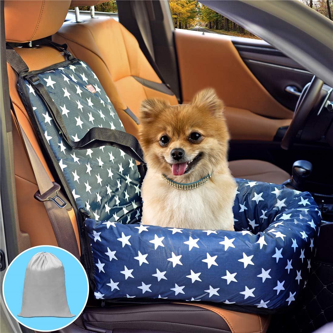 Hunde Autositz Haustier Autositz Hundeerhöhung Geeignet Für Kleine Und Mittelgroße Hunde Oder Katzen Mit Einem Gewicht Von 18 Kg Bietet 1 Große Aufbewahrungstasche Zum Organisieren Des Hundesitzes Auto