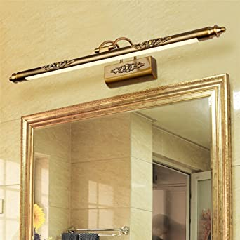 50 Cm Badkamer Spiegel Lampe Waterdicht Retro Brons Kast Spiegel Verlichting Led Wandleuchte Lampe Gratis Verzending Amazon De Beleuchtung