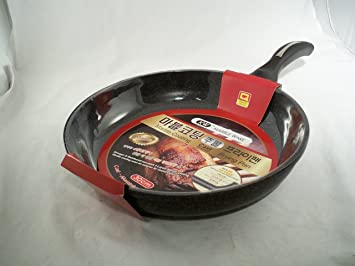 Ceramic marble coated cast aluminium non stick fry pan