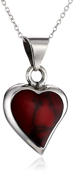 Fine Jewelry Simulated Red Jasper Sterling Silver Necklace Kw2vCVm8