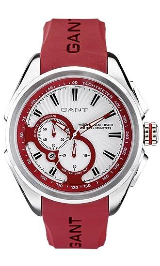 GANT W10588 - Reloj de caballero de cuarzo, correa de caucho color rojo