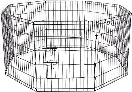 Amazon Oxgord 8 Panel Folding Wire Fence Exercise Pen With