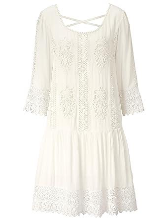 Sienna Damen Kleid Im Boho Stil Hautfreundlich Amazon De Bekleidung