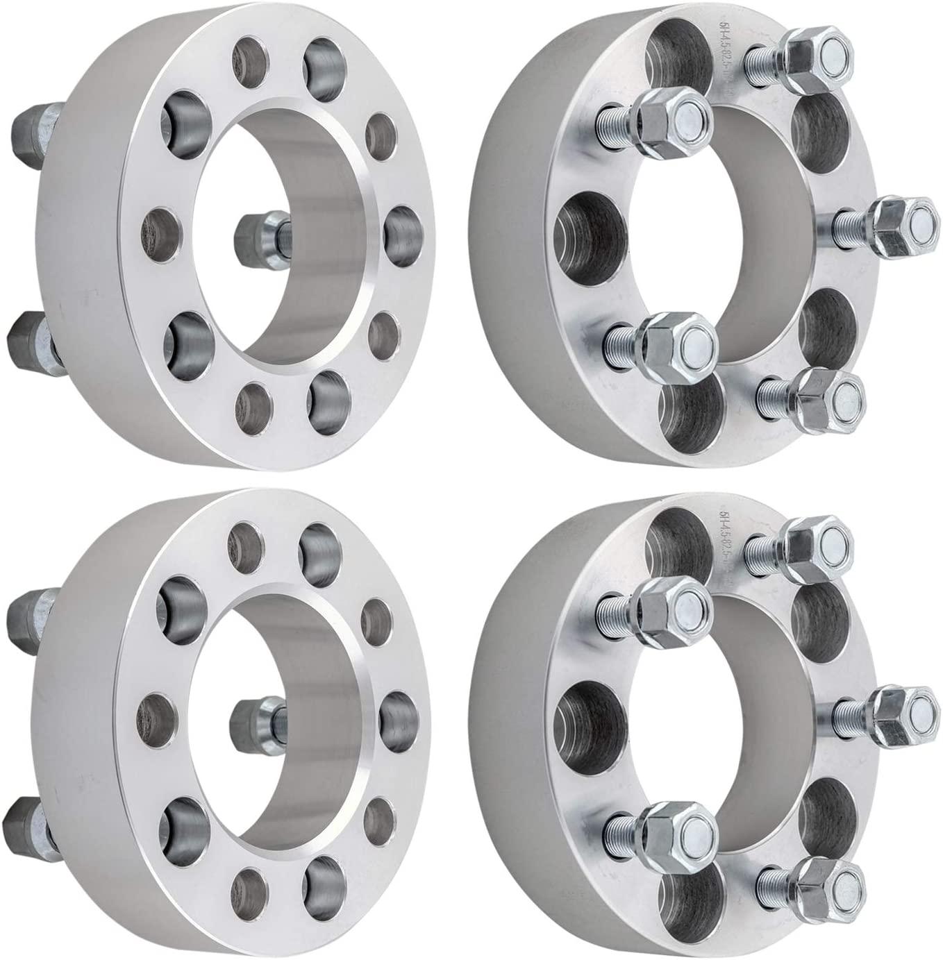 DCVAMOUS 5x4.5 Wheel Spacers Compatible with Jeep Ford 5 Lug 4pc 1.5 Wheel Spacers 1//2 Studs fits for Wrangler Cherokee Liberty Town Car MKS MKX Mustang Taurus Explorer Ranger Edge