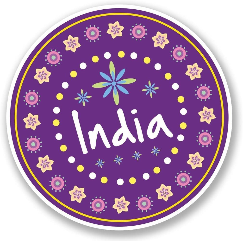 2 x 15cm/150mm Pretty India Indian Vinyl Sticker Decal Laptop Travel Luggage Car iPad Sign Fun #5642