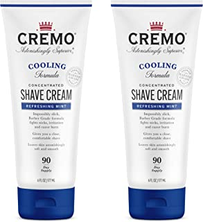 product image for Cremo Barber Grade Cooling Shave Cream, Astonishingly Superior Ultra-Slick Shaving Cream Fights Nicks, Cuts and Razor Burn, 6 Oz (2-Pack)