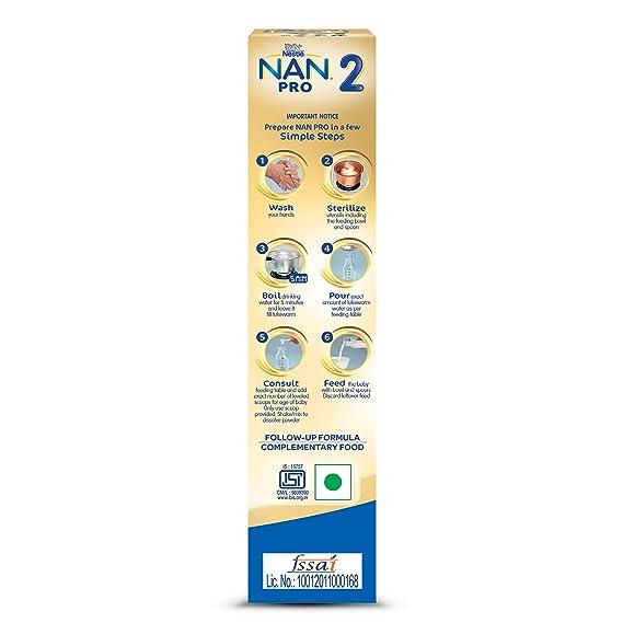 Nestlé NAN PRO 2 Follow-up Formula Powder - After 6 months, Stage 2, 400g  Bag-In-Box Pack