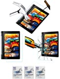 Acm Pack Of 3 Tempered Glass Screenguard For Lenovo Yoga Tab 3 8.0 Tablet Screen Guard Scratch Protector