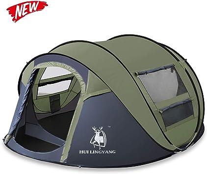HUI LINGYANG Tienda de campaña para Cuatro Personas, fácil de Montar, configuración automática, Refugio Ideal para Camping, Senderismo