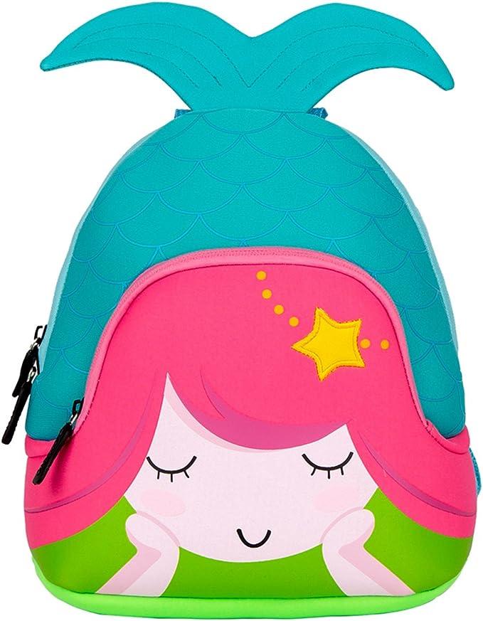 Kids Toddler Backpack Cute Mermaid Reversible Sequin Mini School Bag PU Leather Waterproof Backpack for Girls Blue