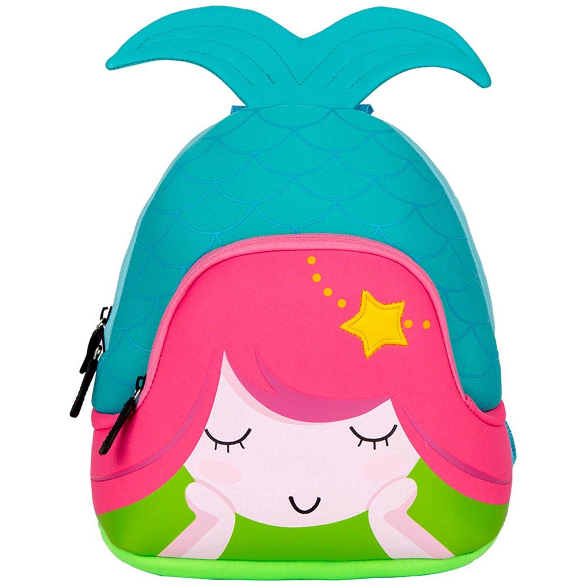 f909c22973a Moonmo Toddler Kids Waterproof Pre School Bag Cute 3D Animal Children  School Backpack (Mermaid Blue)