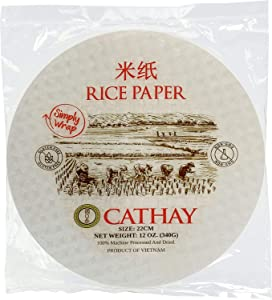 Cathay Spring Roll Rice Paper Wrappers (Round 22cm)