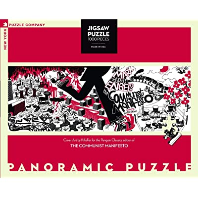 New York Puzzle Company - Penguin Random House Communist Manifesto - 1000 Piece Jigsaw Puzzle: Toys & Games