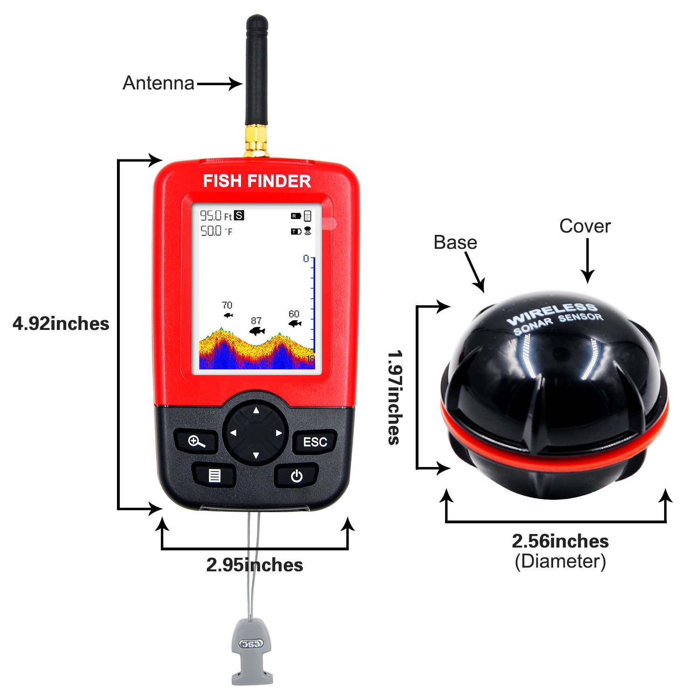 GoldWorld Fishing Finder Wireless Sonar Sensor Portable Fishing ...