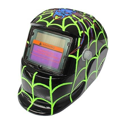 Hanbaili Casco de soldadura, dinosaurio Casco de oscurecimiento automático del casco de soldadura accionado solar