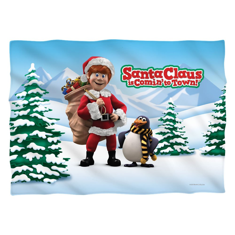 Santa Claus Is Comin To Town Christmas Song Carol Movie 2 Sided Pillow Case