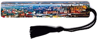 product image for Edinburgh, Scotland Cityscape - Color Wooden Bookmark with Tassel