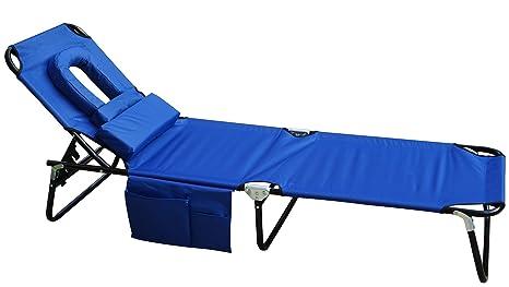 Kozyard Chaise Lounge Silla plegable para playa, Patio, Piscina, Patio o camping