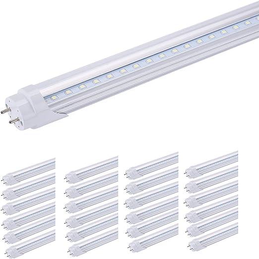 T8 18W 4Ft G13 LED Cool White Fluorescent Tube Light Fixture 6000K Clear Lamp