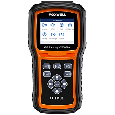 FOXWELL NT630 Plus OBD2 Scanner SRS Code Reader Automotive OBD II SRS Airbag Diagnostic and ABS Brake Bleed Scan Tool: Automotive