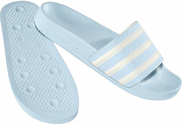 adidas Adilette W Hellblau Frauen: : Schuhe