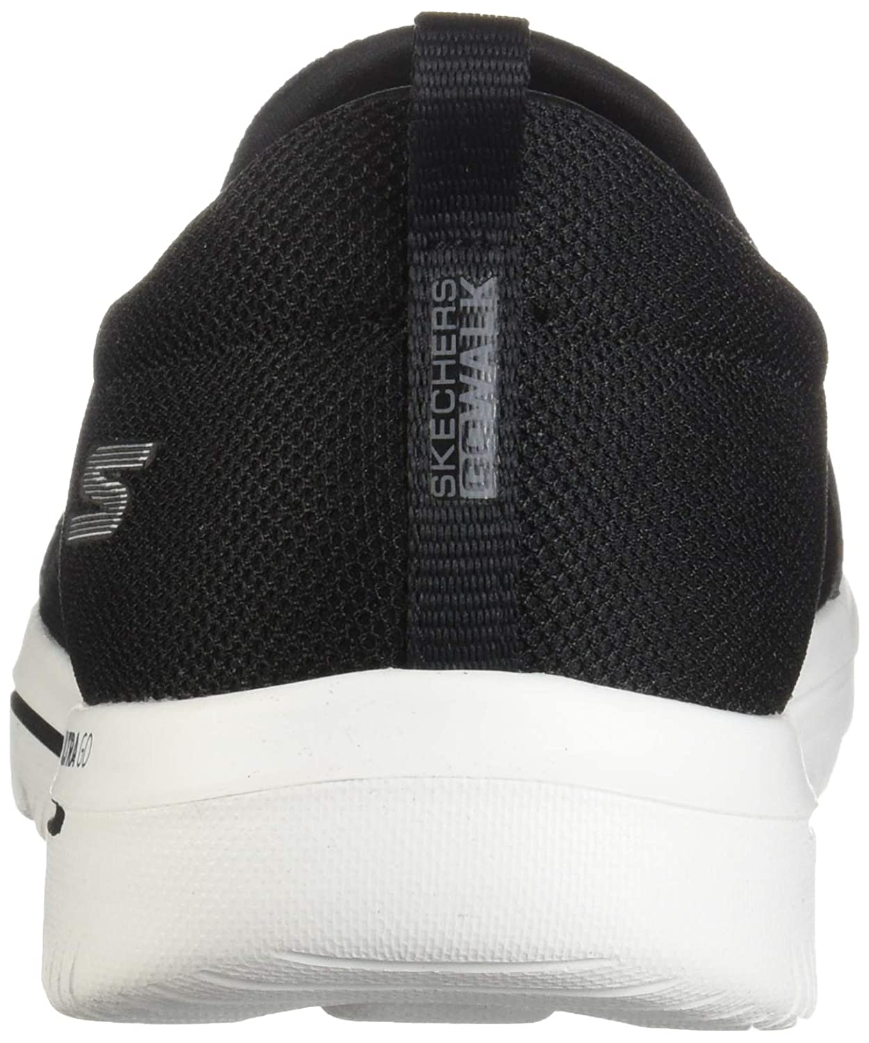 Skechers Damen Go Walk Evolution Ultra-Reach Slip On Sneaker Schwarz (Black Textile/Weiß Trim Bkw)