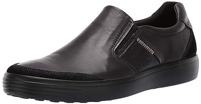 ECCO Men s Soft 7 Slip On Sneaker Black Suede Bla 39 M EU (5 a885382eec2f